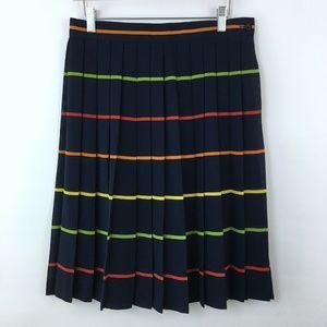 Vintage 90s Navy Blue Striped Skirt Size 12